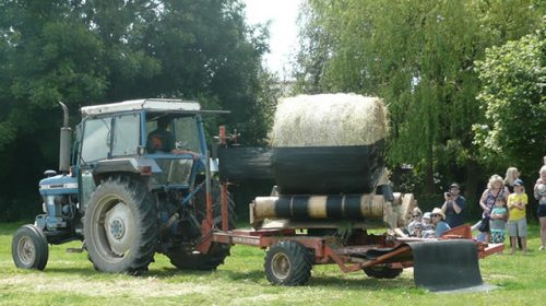 Bale wrapping at Open Farm Sunday