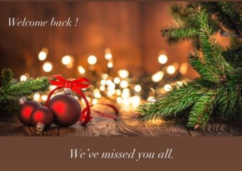 We're back open on Thursday, 3rd December 2020
